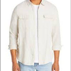 Vince  Linen Long Sleeve Button Down XL